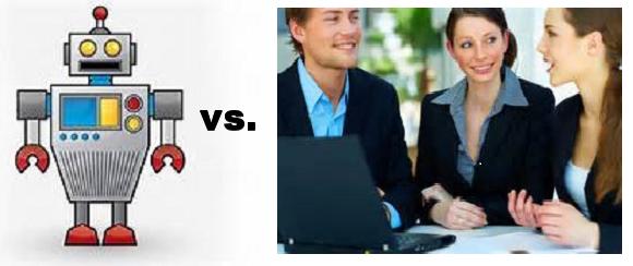 robot vs. prof